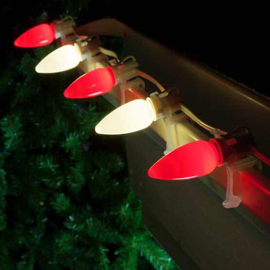Smooth Opticore TM C9 Commercial LED String Lights, Red/Warm White