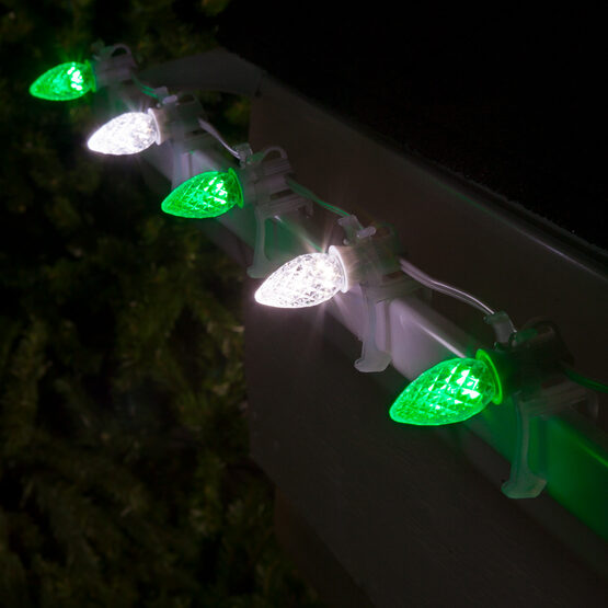 Opticore C7 Commercial LED String Lights, Green/Cool White