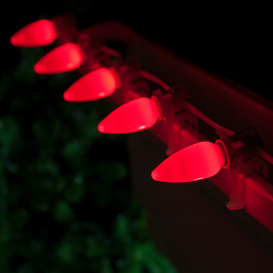Smooth Opticore TM C9 Commercial LED String Lights, Red