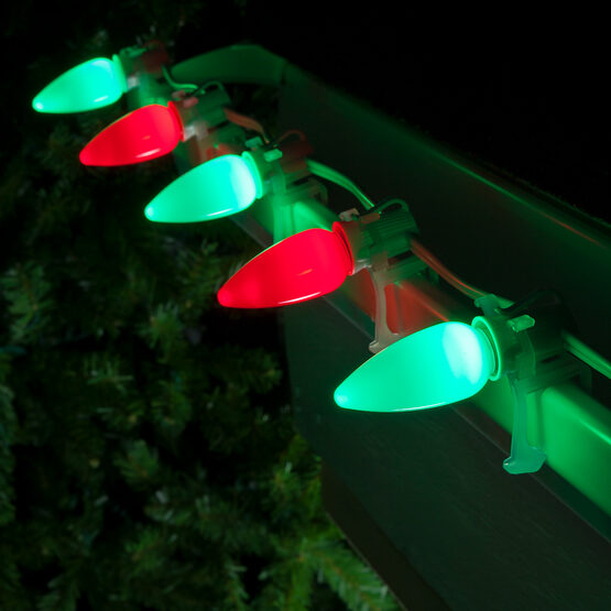 Smooth Opticore TM C9 Commercial LED String Lights, Red/Green