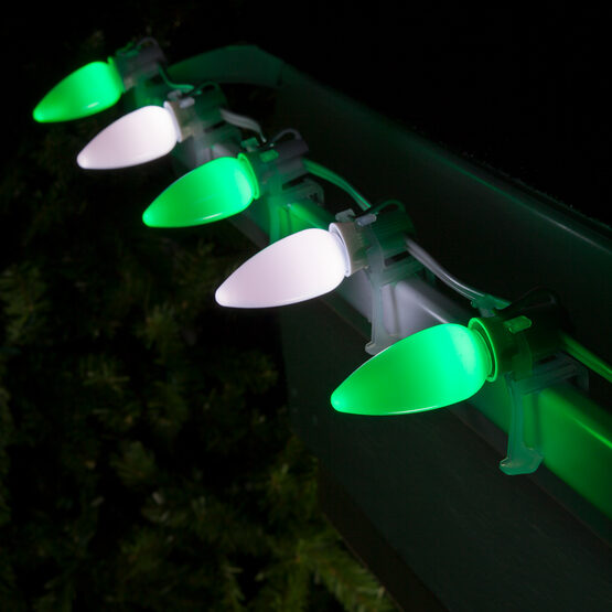 Smooth Opticore TM C9 Commercial LED String Lights, Green/Cool White