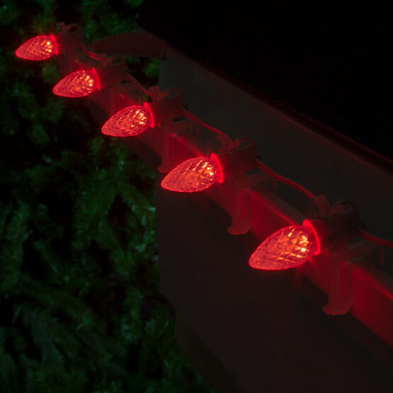 Opticore C7 Commercial LED String Lights, Red