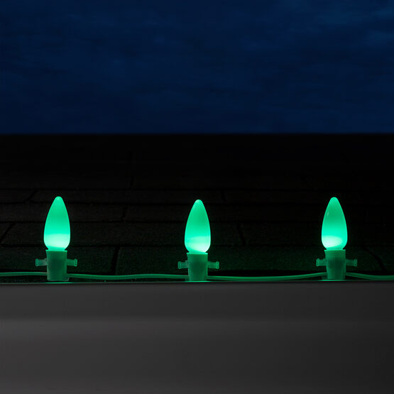 Smooth OptiCore C9 Commercial LED String Lights, Green, 25 Lights, 25'