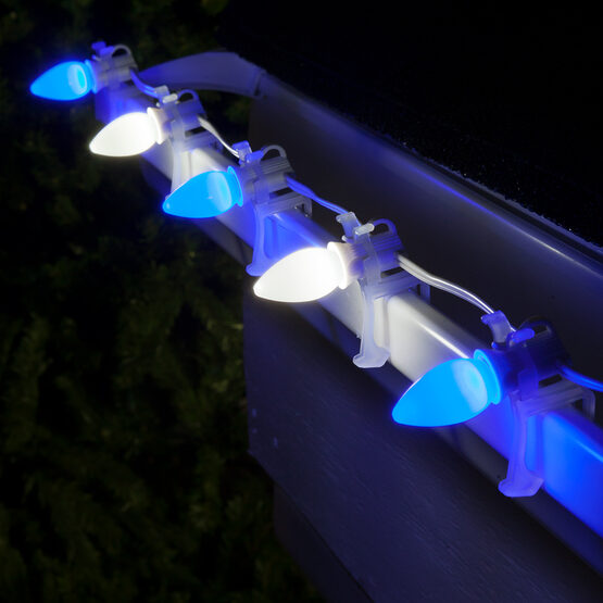Smooth Opticore TM C7 Commercial LED String Lights, Blue/Cool White