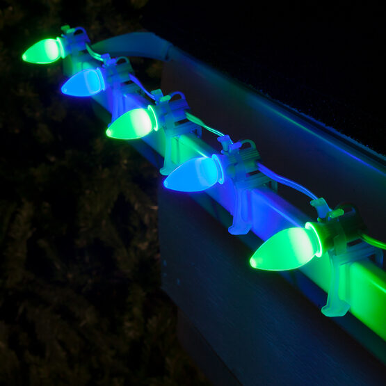 Smooth Opticore C7 Commercial LED String Lights, Blue/Green