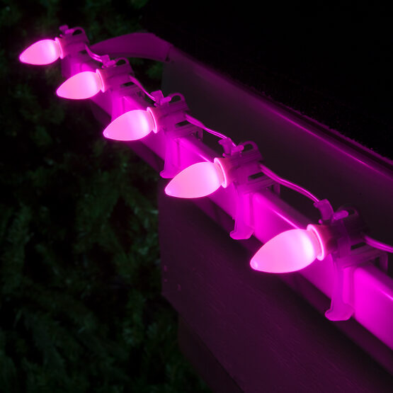 Smooth Opticore TM C7 Commercial LED String Lights, Pink