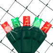 4' x 6' 5mm SoftTwinkle TM LED Net Lights, Red, Green, Green Wire