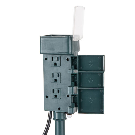 24 Hour Six-Outlet Plug-In Stake Timer