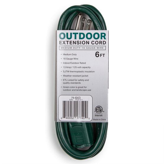 Green Medium Duty Extension Cord