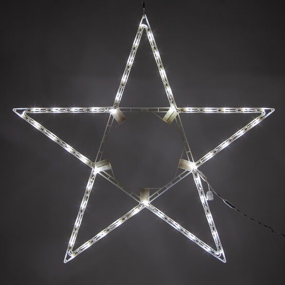 LED 5 Point Folding Star, Cool White Lights