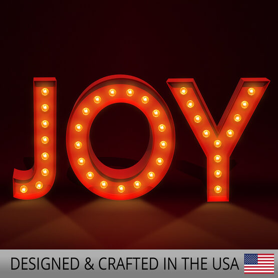Red Holiday Marquee Sign, Merry Christmas