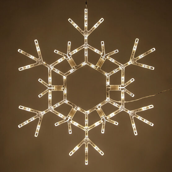 LED Folding Snowflake, Warm White Lights