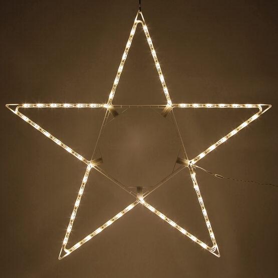 LED 5 Point Folding Star, Warm White Lights