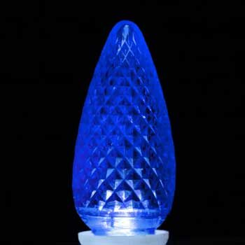 C9 LED Light Bulbs, Blue Acrylic