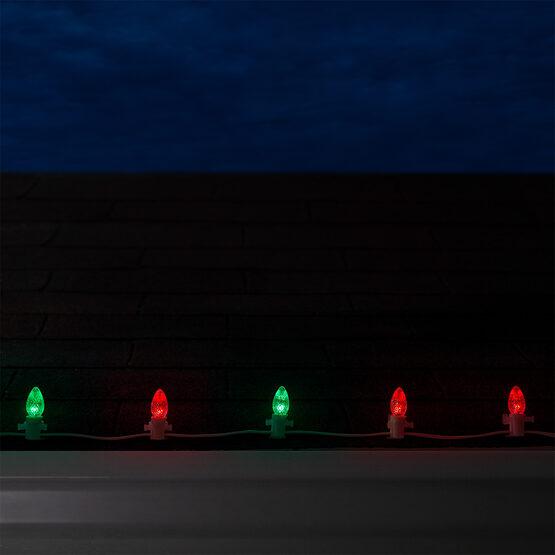 C7 LED Light Bulb, Red-Green Color Change