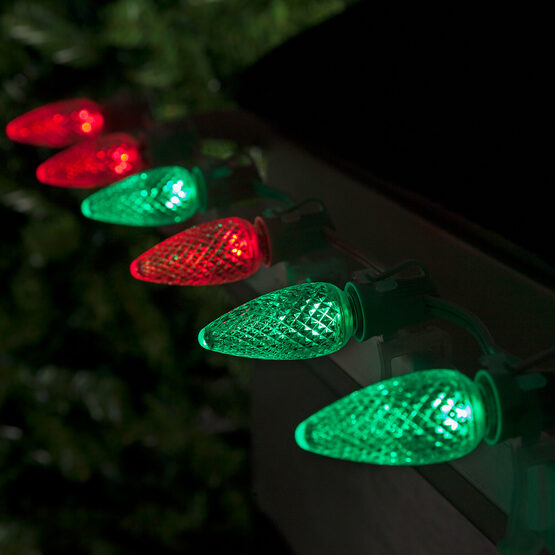 C9 LED Light Bulb, Red-Green Color Change