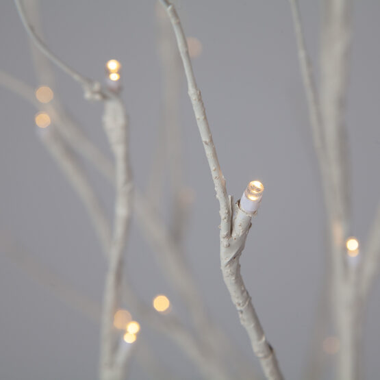 5' Warm White LED Birch Tree