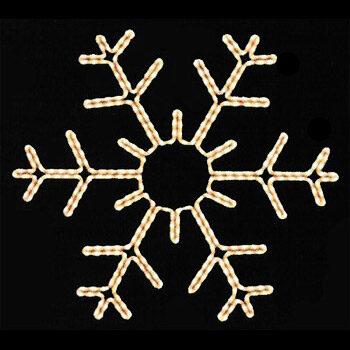"36"" Snowflake Motif, Clear Lights"