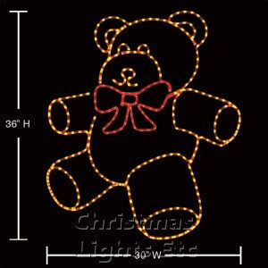 """36"""" Teddy Bear With A Bright Red Bow"""