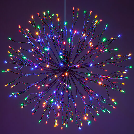Silver Starburst LED Lighted Branches, Multicolor Lights, 1 pc