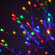 "24"" Silver Starburst LED Lighted Branches, Multicolor Lights, 1 pc"