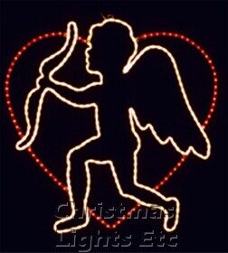 """38"""" Cupid And His Bow In Heart"""
