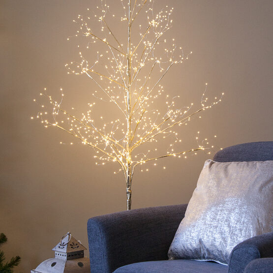 3' Gold Fairy Light Tree, Warm White LED Lights