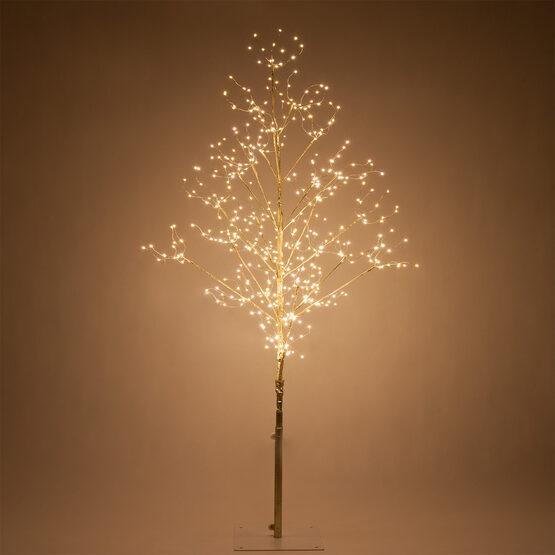 4' Gold Fairy Light Tree, Warm White LED Lights