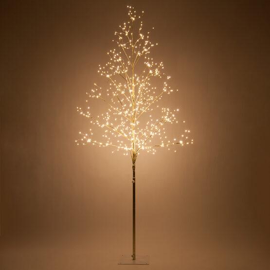 6' Gold Fairy Light Tree, Warm White LED Lights