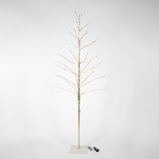 7' Gold Fairy Light Tree, Warm White LED Lights