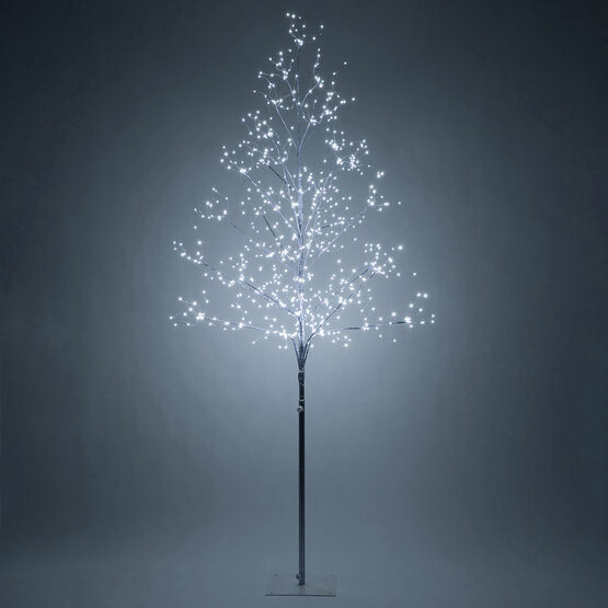 6' Silver Fairy Light Tree, Cool White LED Lights