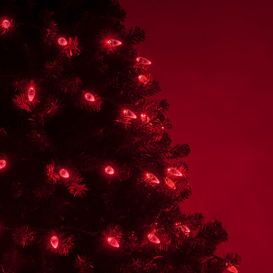 Strawberry LED String Lights, Red, Green Wire