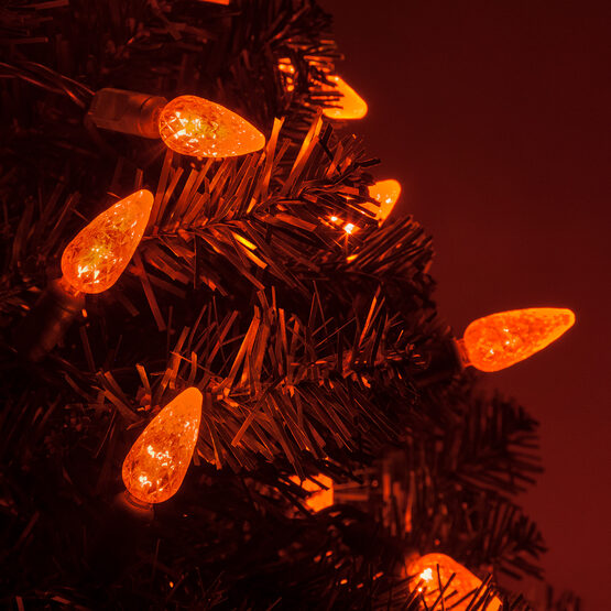 Strawberry LED String Lights, Amber, Green Wire