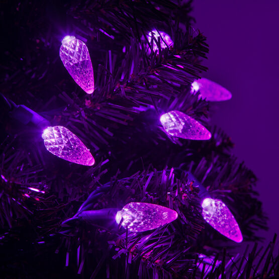 Strawberry LED String Lights, Purple, Green Wire