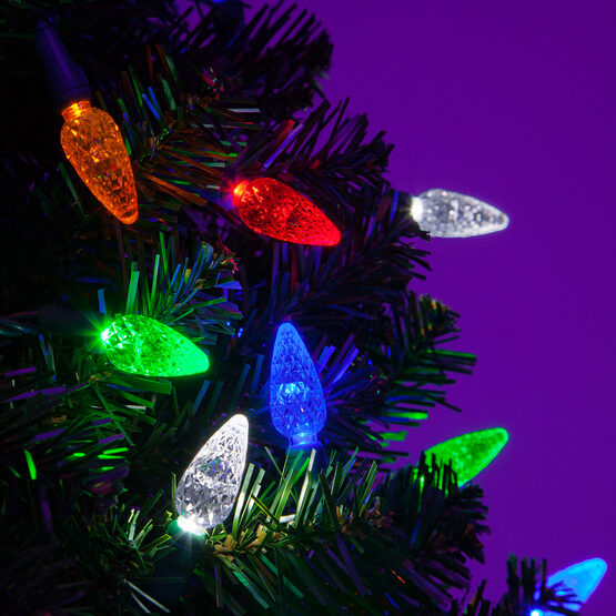 Strawberry LED String Lights, Multicolor, Green Wire