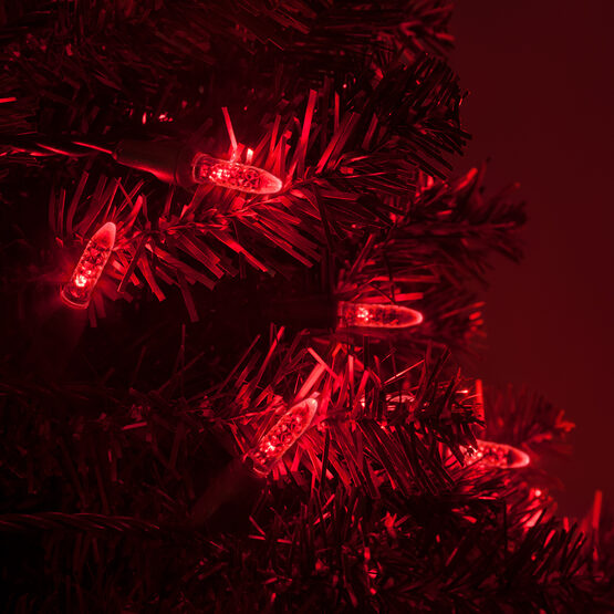 LED Mini String Lights, Red, Green Wire