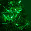 LED Mini String Lights, Green, Green Wire