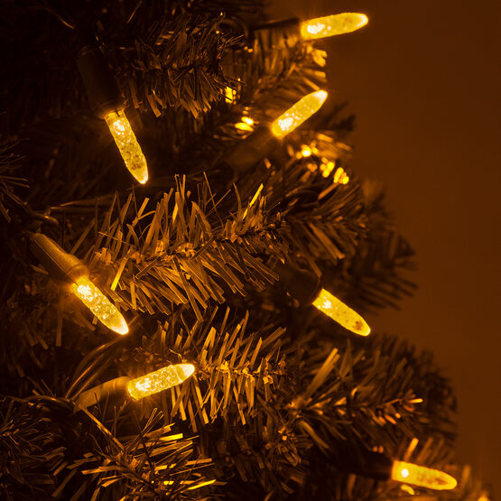 LED Mini String Lights, Gold, Green Wire