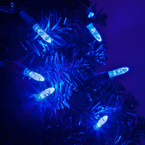 LED Mini String Lights, Blue, Green Wire
