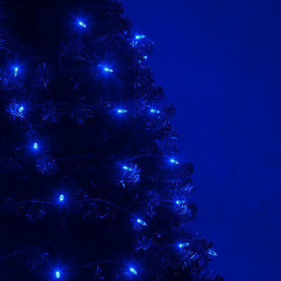 T5 Mini Christmas String Lights, Blue, Green Wire