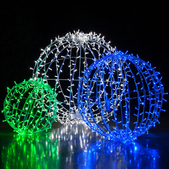 "30"" Commercial Mega Sphere Light Ball, Fold Flat Cool White LED"