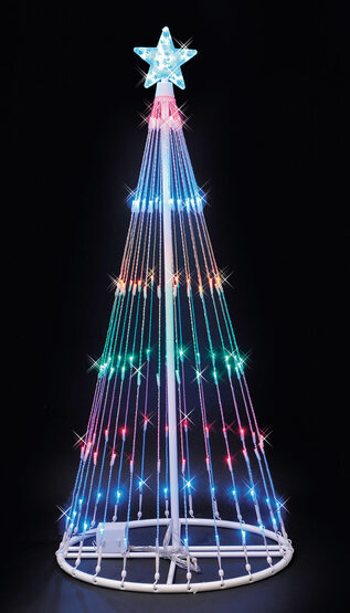 4' Multi LED Lightshow Tree