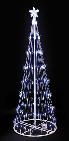 9' White LED Lightshow Tree