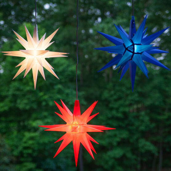 Lighted Moravian Star, Red LED