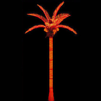 Tiara Commercial Lighted Palm Tree with Orange Canopy