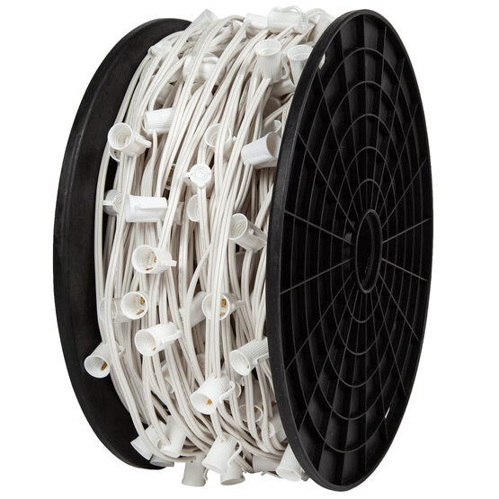 C9 Commercial Light String Spool, White Wire