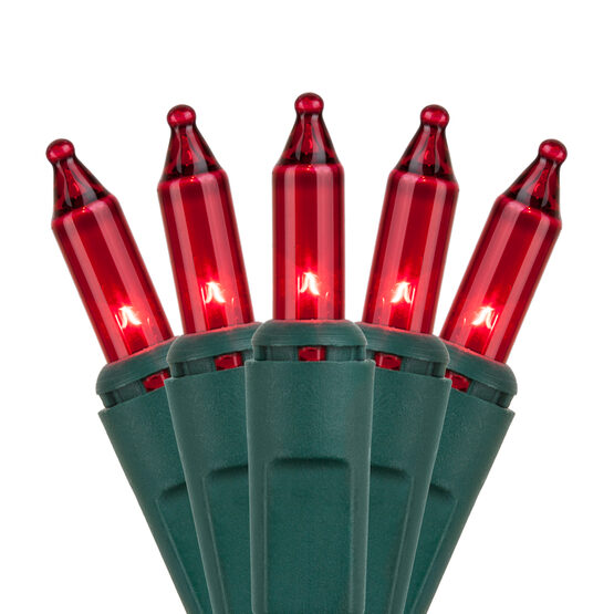 Commercial Red Mini String Lights