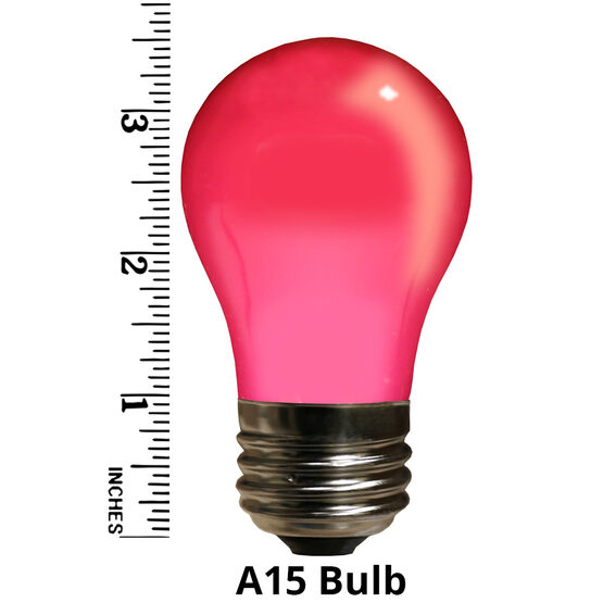 A15 Colored Party Bulbs, Pink Opaque