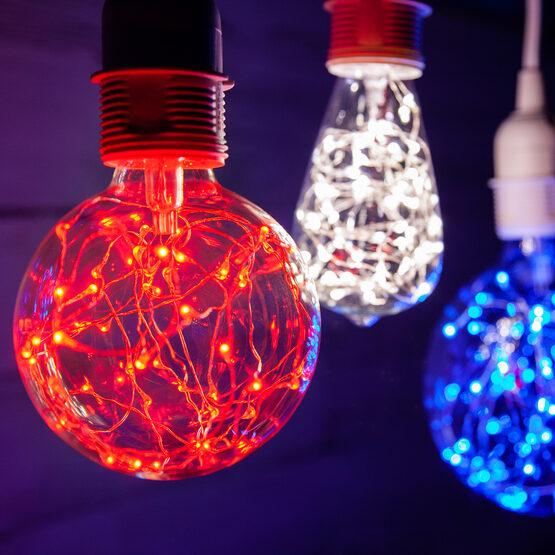 G80 LEDimagine TM Fairy Globe Light Bulb, Blue