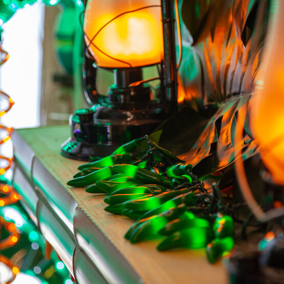 Green Chili Pepper Cluster Light Set